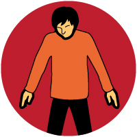 Rigid, jerking limbs or seizures