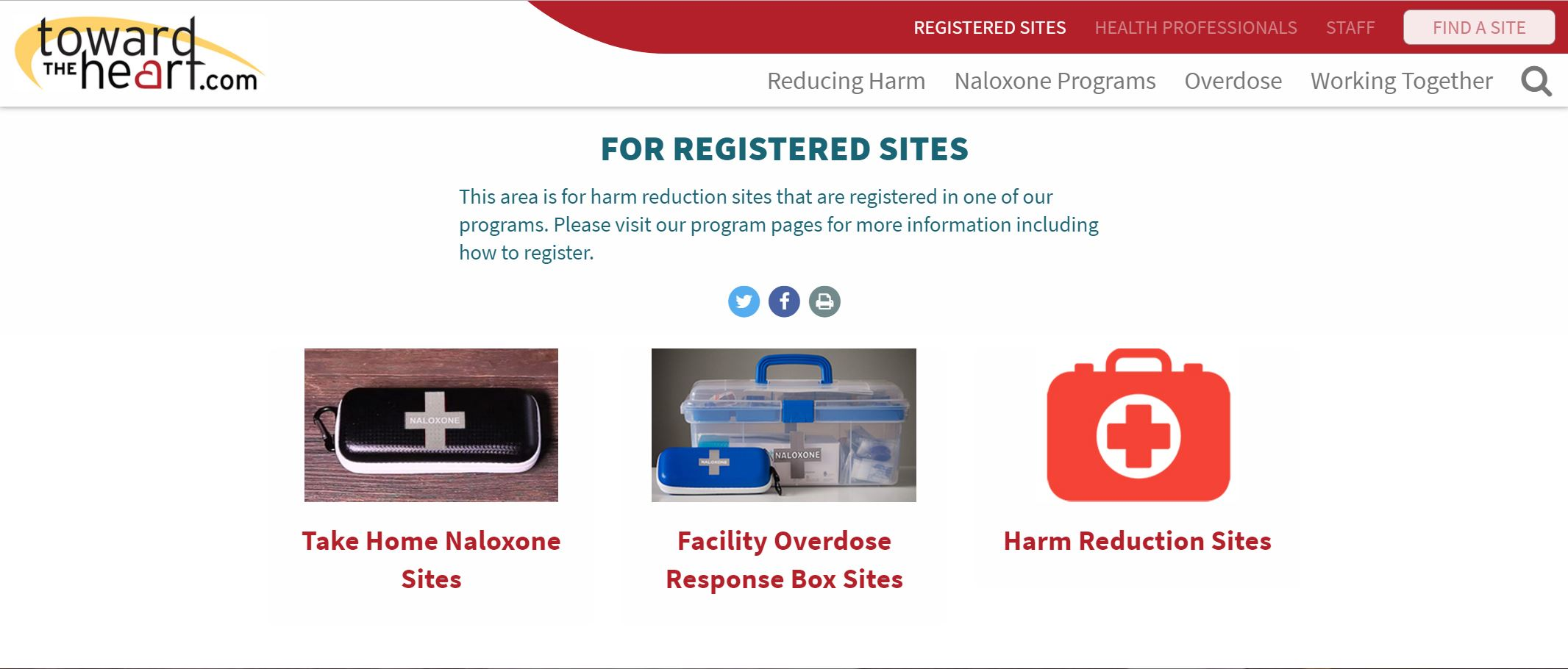 Registered Sites Page