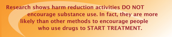 Research shows harm reduction encourages people to start treatment